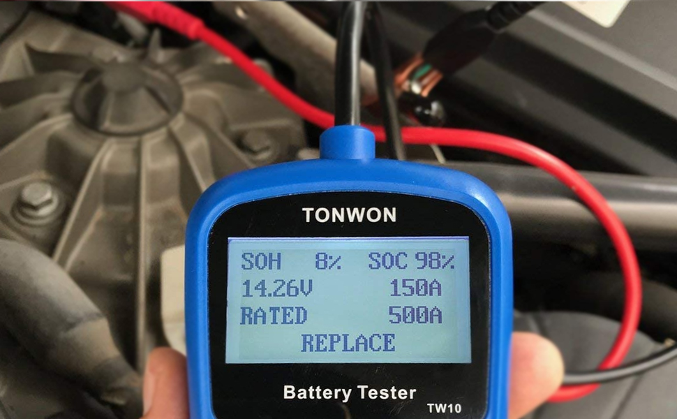 12 V Autobatterie Tester Batterietester Batterietestger/ät 40-200 Ah  10 s Testzeit LCD-Display Steinberg Systems SBS-BT-612 Autobatterie Tester digital 6 V