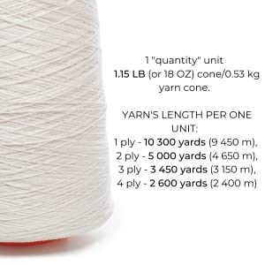 lusie's linen yarn cone