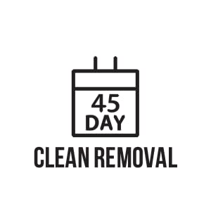 TapeManBlue Benefits 45-Day Clean Removal