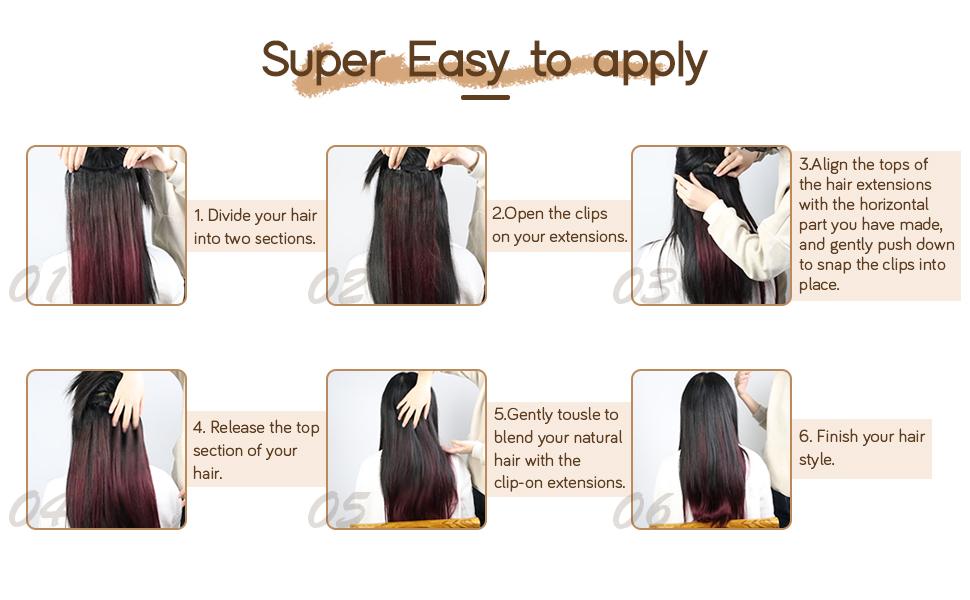 hair extension clip ins