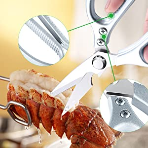kitchen scissors heavy duty poultry shears dishwasher safe stainless steel multi purpose sharp blade