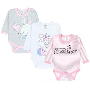 TupTam Body para Bebé Niñas con Estampados, Pack de 3: Amazon.es ...