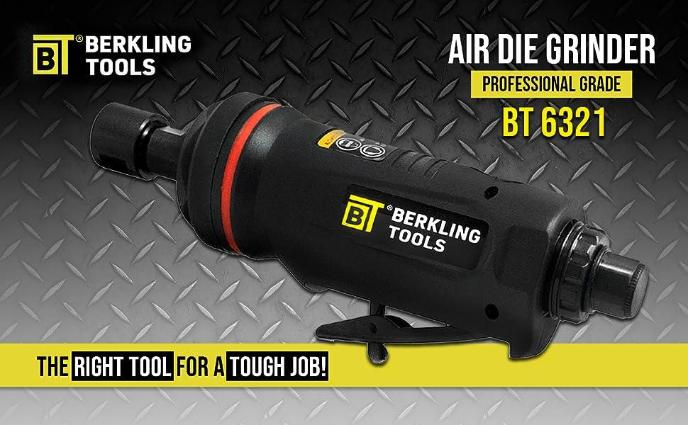 "BERKLING TOOLS BT 6321 BT 6321-7 6322 6323 air die grinder right angle 115 degree 7"" extension"