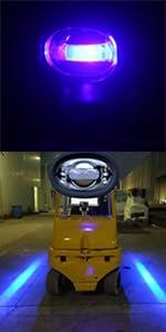 Magood Forklift Truck Pickup Excavator Warehouse Safety Warning Pedestrian Lights 30W DC 12-80V Security Indicator Spotlight Red, 2 Pack