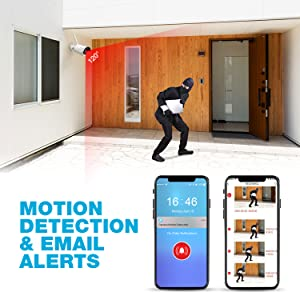 Motion Detection & Email Alert-security camera system wireless