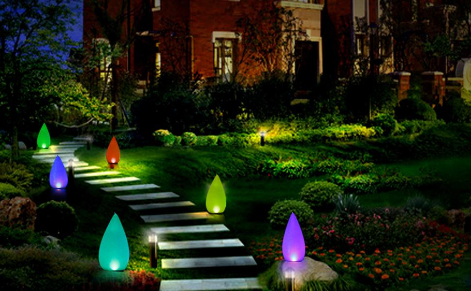 Luz Solar de Jardín,Forma Cónica LED Exterior Solar Luz LED para piscina IP68 Impermeable Lampara Solar 4 Colores Cambiantes Luces Solares Led Exterior,Para Decoración de Patio,Césped,Piscina(2PACK): Amazon.es: Iluminación