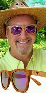 Pelican Sunwear wooden sunglasses purple polarized du dumu wood men women