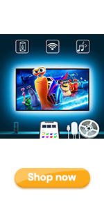 TV LED Backlights 9.8ft USB TV Strip Lights with APP for 46-55in Work with Alexa Google Home
