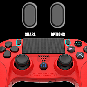 Share and Options Button