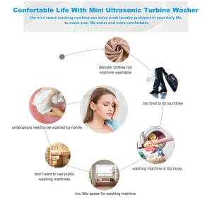 Foldable Ultrasonic Turbines Rotating Washer Travel USB Cable