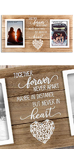Long Distance Friendship Gifts Relationships Best friends Frame Christmas Present Sister Family