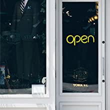 kunida designs led neon open sign light for business storefront door window closed cafe office shop