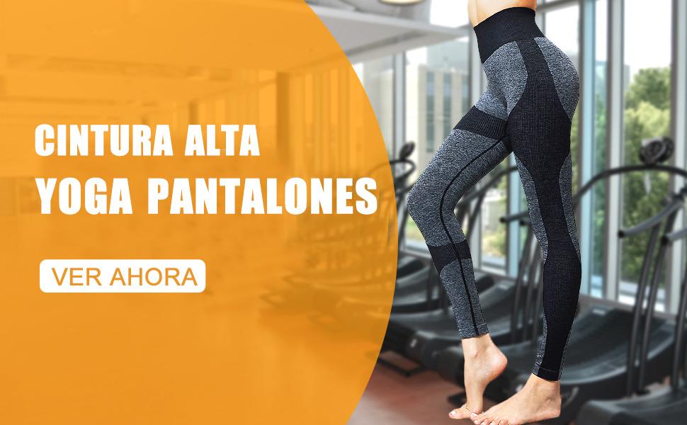 Lover-Beauty Pantalones Mujer Legging Yoga Deportiva Mujer Legging Elástico Cintura Alta Deportivo Entrenamiento Push Up para Danza Fitness Control ...