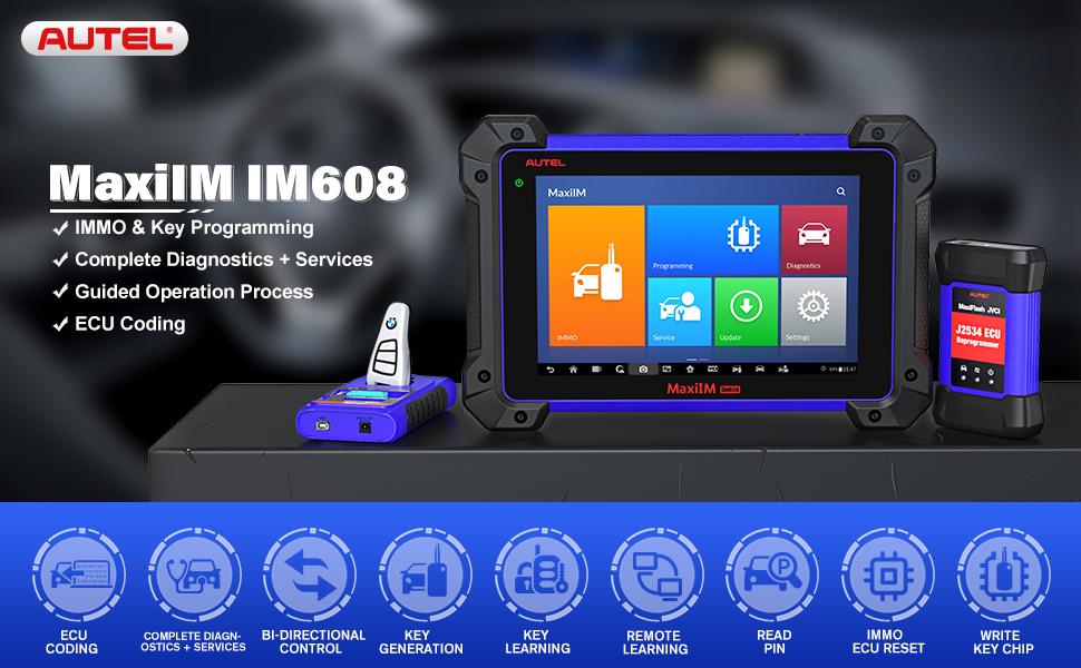 Autel MaxiIM IM608 Car Key Programming Scan Tool with All System Diagnostics Service Key Programming