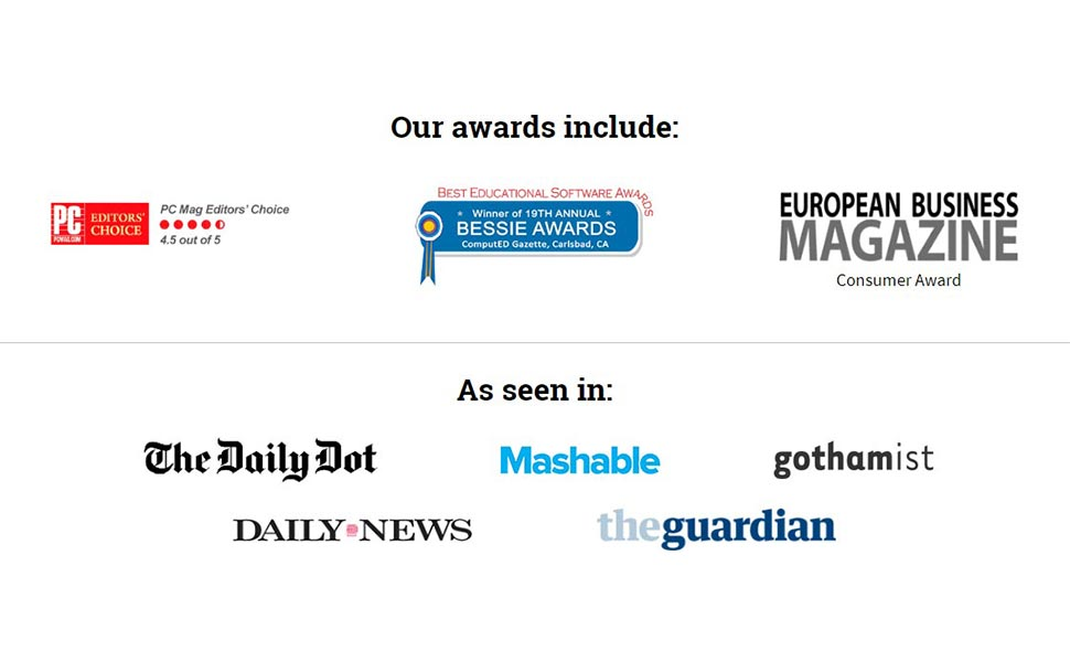 Our awards include, As seen in