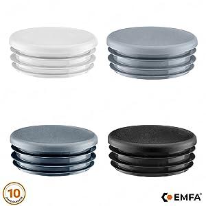 Rundstopfen 10 mm Wei/ß Kunststoff Endkappen Verschlusskappen 5 Stck