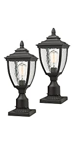 Beionxii Outdoor Post Light 2-Pack