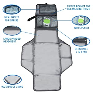 Mom and baby diaper change pad