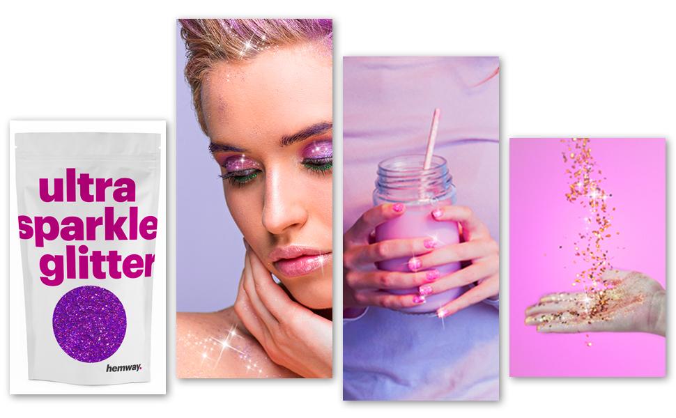 "Hemway CHUNKY Glitter Purple 1//40/"" 0.025/"" 0.6mm 625 microns"