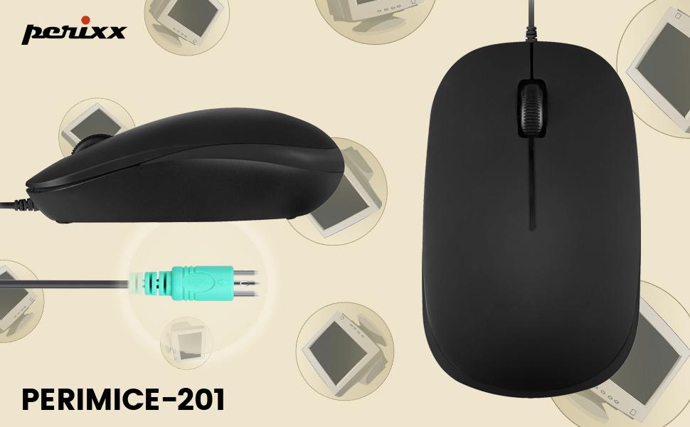 Perixx PERIMICE-201 P II Optische 3-Tasten PS2 Maus: Amazon.de: Computer &  Zubehör
