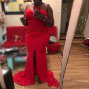 xl red gown