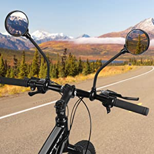 BICYCLE MOBILITY ROUND MIRROR GLASS MOUNTAIN ROAD BIKE Y8O6 S0S2
