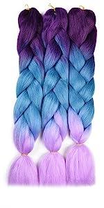 Purple/Lake Blue/Light Purple