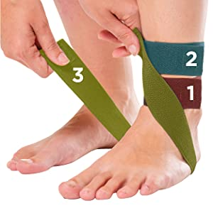 three adjustable straps on the plantar fasciitis brace allow for a customized fit