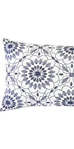 navy lumbar throw pillows