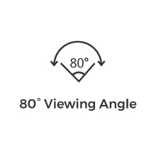 80° Viewing Angle