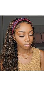 1b/27 Highlight Headband Wig Human Hair