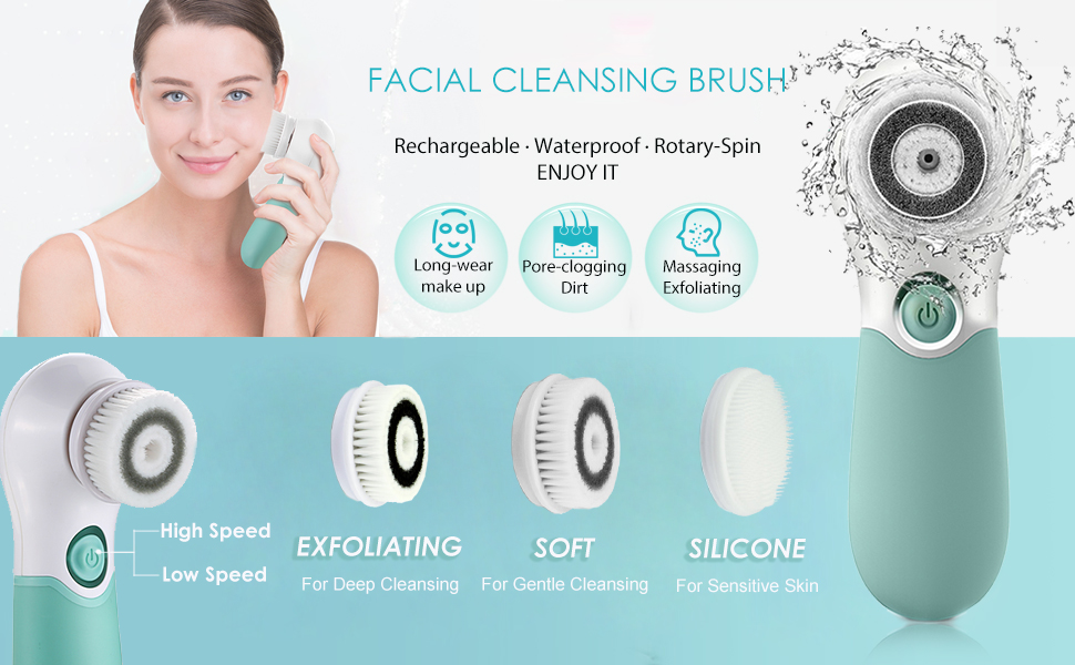 facial brushes for cleaning and exfoliating