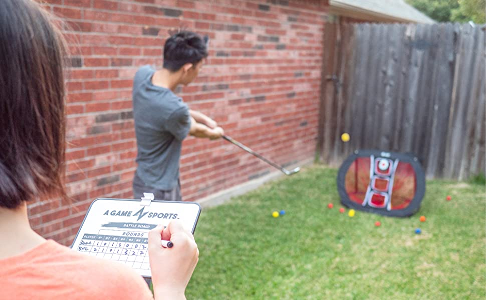 A Game Sports Pop Up Golf Chipping Net for Chipping Accuracy & Swing Practice