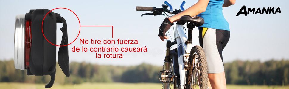 AMANKA Luces Bicicleta Recargable LED, Luz para Bicicleta por USB Conjunto de Luces Delantera y Trasera para Bicicleta 4 Modo 650mAh Reflector Bici Seguridad Faro de Señal: Amazon.es: Deportes y aire libre