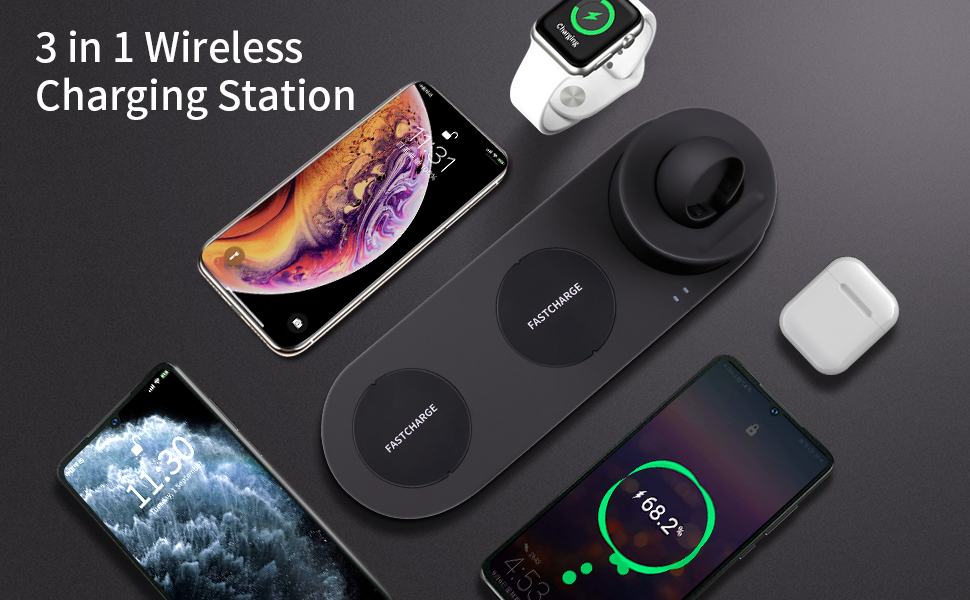 3 in 1 wireless charging station apple