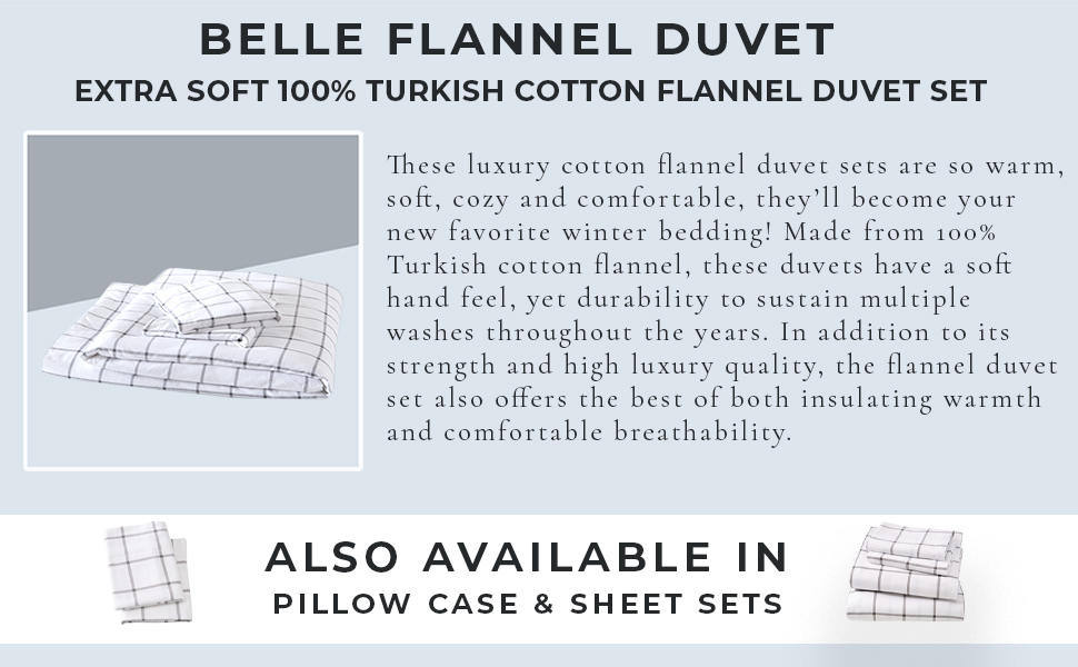 Flannel Duvet Printed Duvet Set