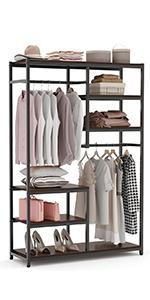 freestanding double rod closet