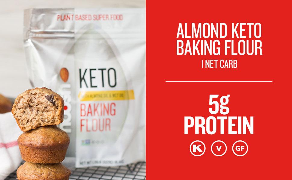 Noosh Keto Baking Flour, Vegan, Gluten Free, Kosher, NON GMO, Peanut Free, Diary Free, Soy Free