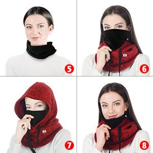 8種類の着用方法:(タイプ5-8)