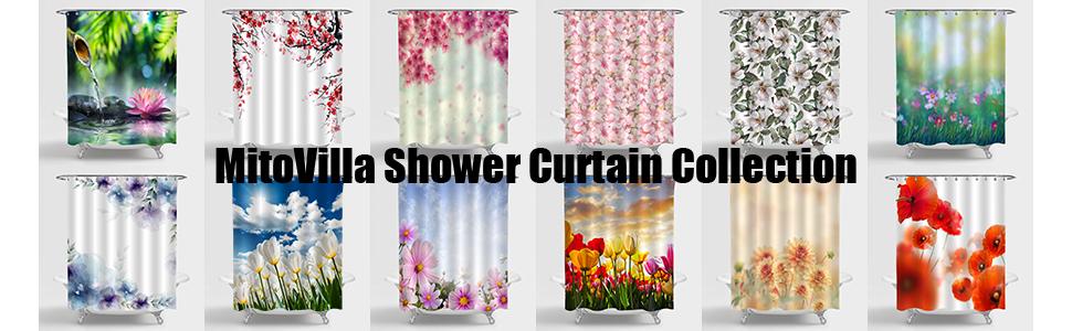 More MitoVilla Shower Curtain