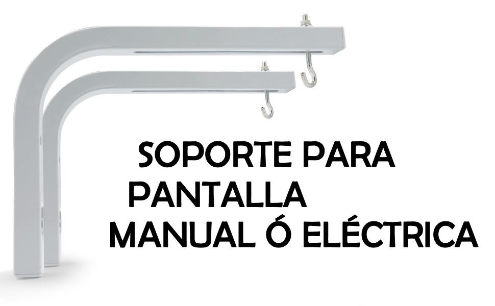 soporte de pared luxscreen lux-screen para pantalla de proyección manual electrica separacion 28cm