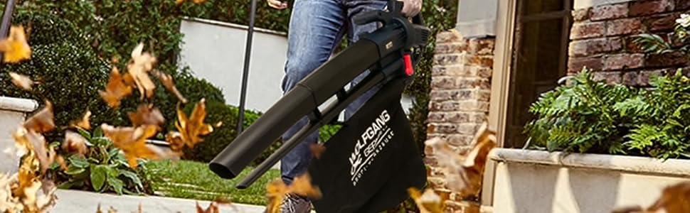 WOLFGANG Sopladora trituradora aspiradora, Herramienta de jardín, Limpieza de hojas, exteriores cuidados y limpios, bolsa de recogida 35 L: Amazon.es: Bricolaje y herramientas