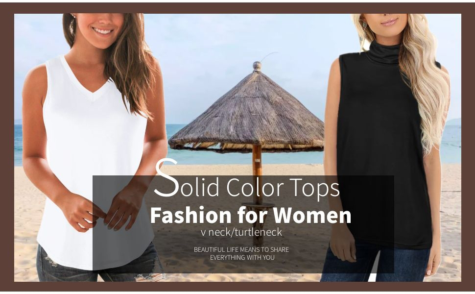 Basic Solid Color Tops