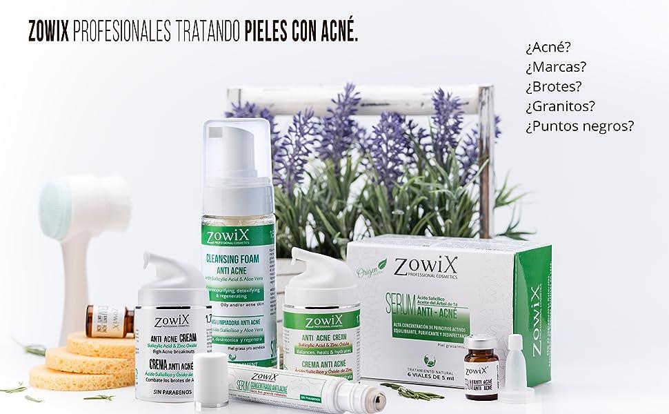 ZOWIX Tratamiento Antiacne con Acido Salicílico. Serum facial ...