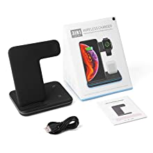 3 in 1 Wireless Charger Stand 15W Max Wireless Charging Station