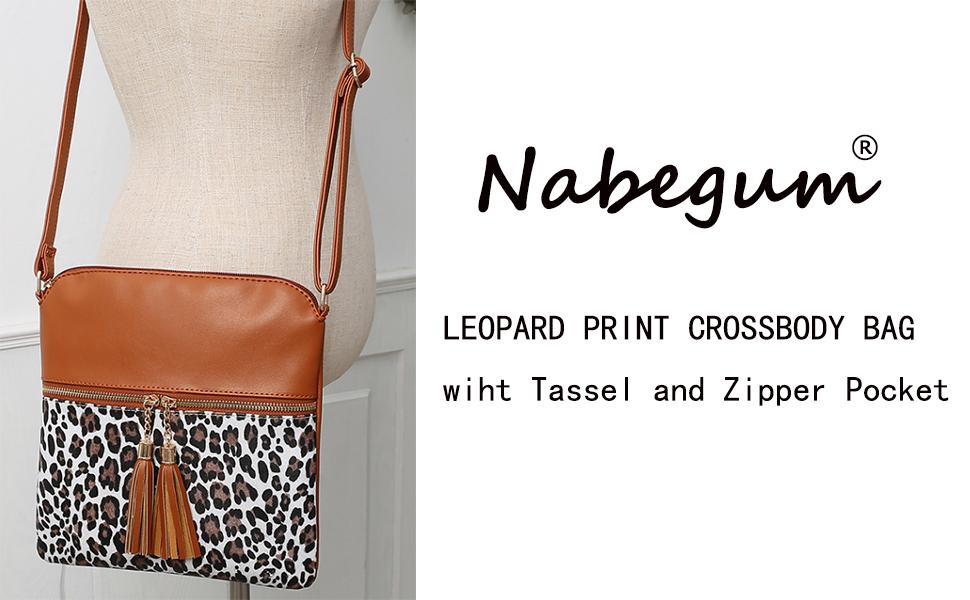 Details about  /Kumo Crossbody Tote Leopard Animal Fushia Black Natural Jute Bag by Shiraleah