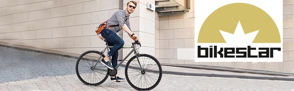 Singlespeed 700C 28 Zoll City Stadt Fahrrad | 53 cm Rahmen Rennrad Retro Vintage Herren Damen Rad