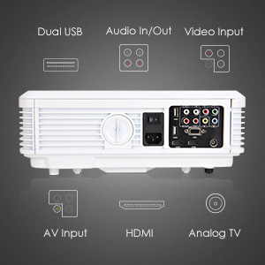 LED HD Movie Gaming Projector ports