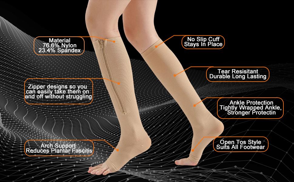 black compression socks for women