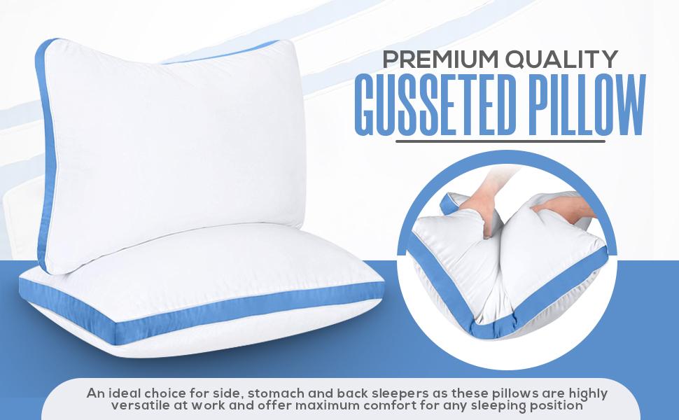 cotton gusset pillow
